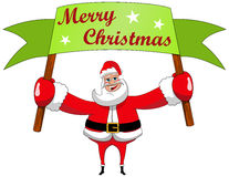 Santa Claus Merry Christmas Billboard Sign Show Stock Photography