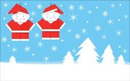 Santa Claus Merry Christmas Card photographie stock libre de droits