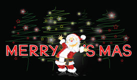 Santa Claus Merry Christmas Card Foto de Stock
