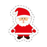 santa claus merry christmas cut line Royalty Free Stock Images