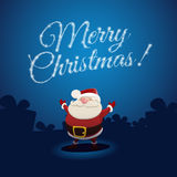 Santa Claus and Merry Christmas Stock Photo