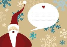 Santa claus merry christmas greeting card snow Royalty Free Stock Photography