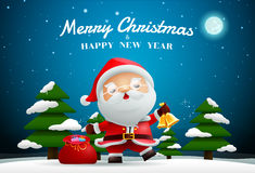 Santa claus merry christmas and happy new year Stock Photography