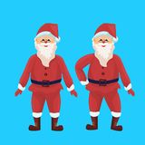 Santa claus merry christmas happy new year holiday concept flat isolated vector illustration