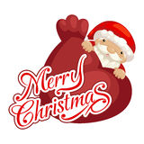 Santa claus and merry christmas Royalty Free Stock Images