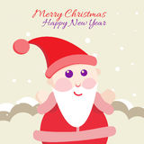 Santa Claus with Merry Christmas Label for Holiday Royalty Free Stock Images
