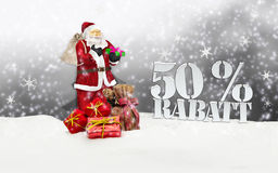 Santa claus - merry christmas 50 percent discount Royalty Free Stock Images