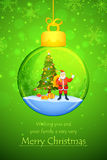 Santa Claus with Merry Christmas pine tree Royalty Free Stock Image