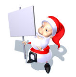 Santa Claus with a message Royalty Free Stock Image
