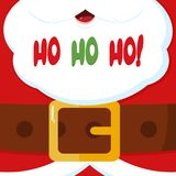 Santa Claus Message Banner With Text Ho Ho Ho illustration libre de droits