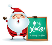 Santa Claus with message board Stock Photo