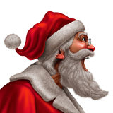 Santa Claus Message. Santa Claus laughing or yelling as a winter festive christmas time message concept with a man in a red suit wearing a beard expressing his Royalty Free Stock Images