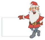 Santa Claus met een leeg leeg beeldverhaal Stock Afbeeldingen