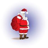 Santa Claus met een zak van giften Vrolijke Kerstmis Royalty-vrije Stock Foto