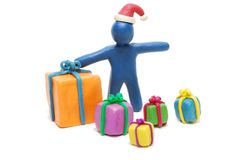 Santa Claus met Giften Stock Afbeelding