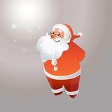 Santa Claus met glazen het glimlachen Stock Afbeelding