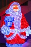 Santa Claus met LEIDENE lamp royalty-vrije stock foto's