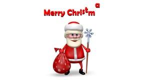 Santa Claus met Zijn Personeel stock video