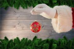 Santa Claus mienia bożych narodzeń bauble Obrazy Royalty Free