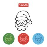 Santa Claus Minimal Line Stroke Icon Photo libre de droits