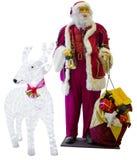 Santa Claus mit einem Glas-dee Stockfotos
