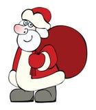Santa Claus mit einem großen Sack Weihnachtsgeschenken Lizenzfreies Stockfoto