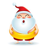 Santa Claus mit einem Schwimmring Lizenzfreie Stockbilder