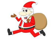 Santa Claus mit Geschenktasche Stockbild
