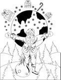 Santa Claus mit Kugel Stockbild