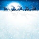 Santa Claus mit Ren Stockbild