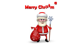 Santa Claus mit seinem Personal stock video