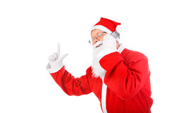 Santa claus with mobile phone Royalty Free Stock Image