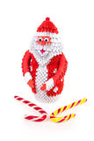 Santa Claus from the modular origami Royalty Free Stock Photo