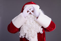 Santa Claus montre le geste Images stock