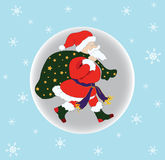 Santa Claus and Moon Stock Images
