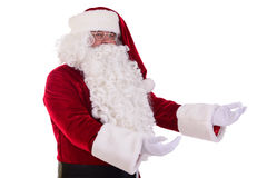 Santa Claus mostra il gesto Fotografia Stock Libera da Diritti