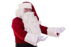 Santa Claus mostra o gesto Fotografia de Stock Royalty Free