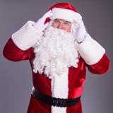Santa Claus mostra o gesto Foto de Stock Royalty Free