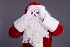 Santa Claus mostra o gesto Imagens de Stock