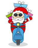 Santa Claus on motorcycle Royalty Free Stock Photography