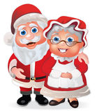 Santa Claus and Mrs Claus stock illustration