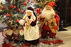Santa Claus and Mrs Claus royalty free stock photography