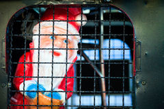 Santa Claus na cadeia foto de stock royalty free