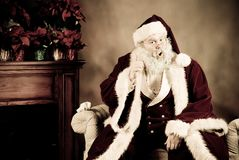 Santa Claus Naughty or Nice Royalty Free Stock Image