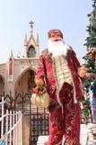 Santa Claus near montering Mary Church Fotografering för Bildbyråer