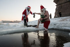Santa Claus nel foro Fotografie Stock