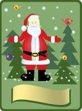 Santa Claus nel legno Fotografia Stock Libera da Diritti