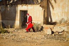 Santa Claus nella depressione Fotografie Stock Libere da Diritti