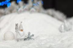 Santa Claus nella notte di Natale Fotografie Stock