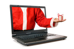 Santa Claus new technology Royalty Free Stock Images
